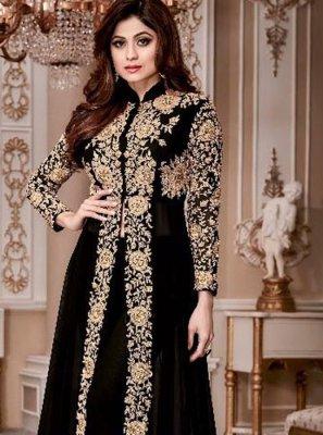 Shamita Shetty Resham Work Anarkali Salwar Kameez