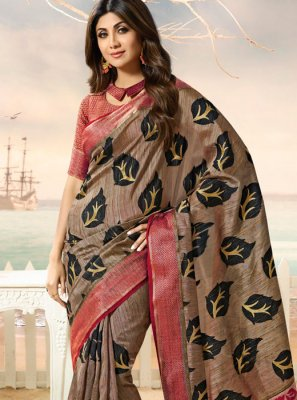 Shilpa Shetty Multi Colour Art Silk Traditional Designer Saree