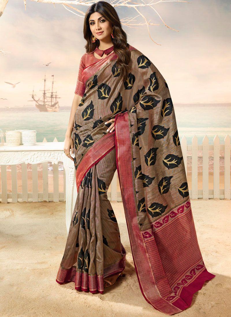 Shilpa Shetty Multi Colour Art Silk Traditional Designer Saree
