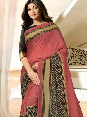 Shilpa Shetty Pink Traditional Saree