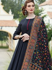 Silk Black Anarkali Salwar Kameez