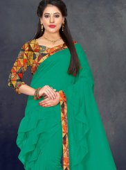 Silk Border Green Trendy Saree
