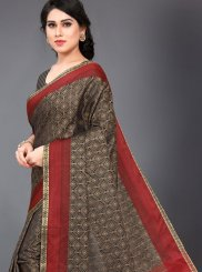 Silk Casual Saree in Black