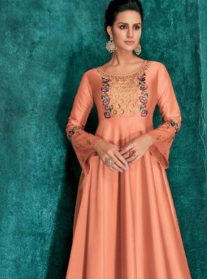 Silk Ceremonial Desinger Anarkali Salwar Suit