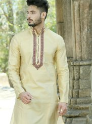 Silk Cream Kurta Pyjama
