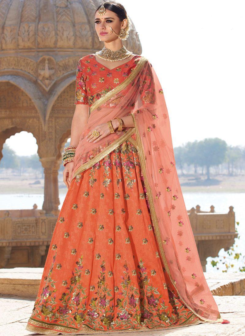 Silk Designer A Line Lehenga Choli