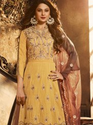 Silk Desinger Anarkali Salwar Suit