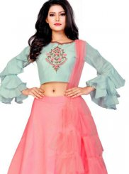 Silk Embroidered A Line Lehenga Choli