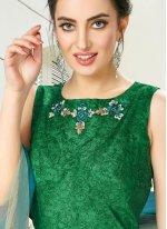 Silk Embroidered Multi Colour Desinger Anarkali Salwar Suit