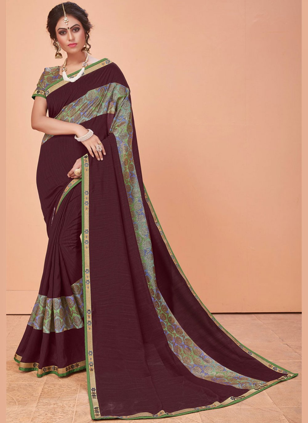Silk Embroidered Trendy Saree