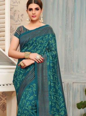 Silk Foil print Casual Saree