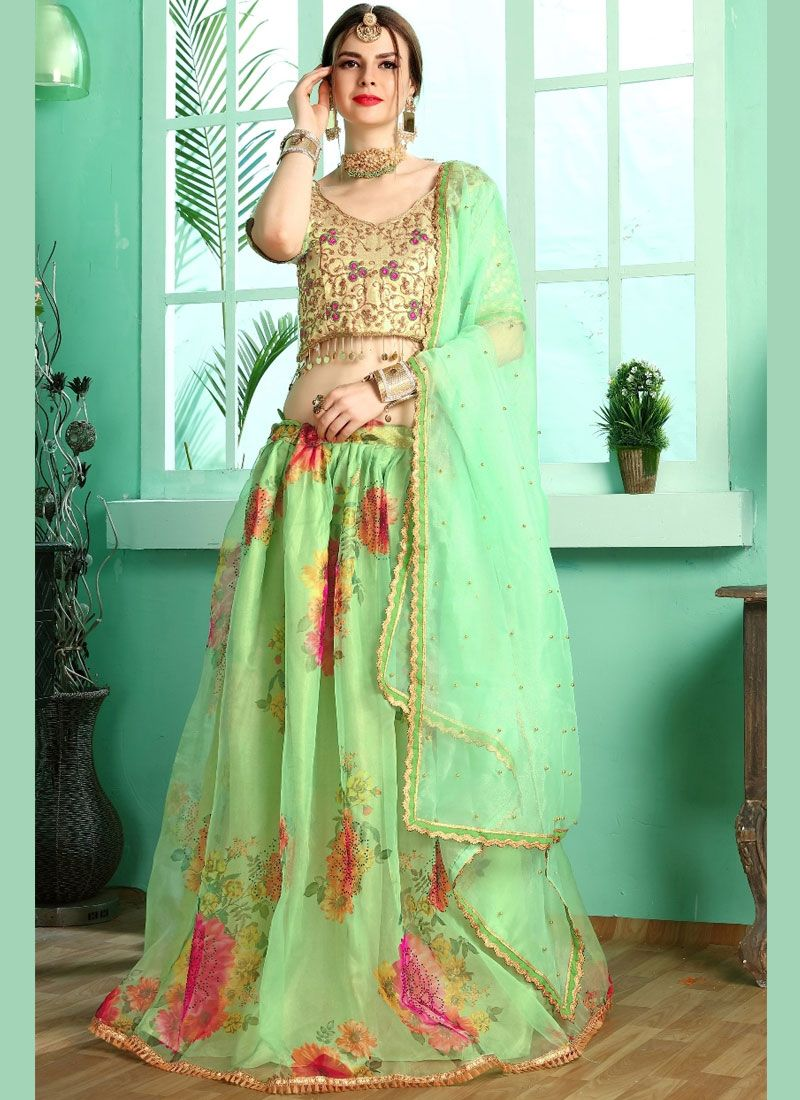 Silk Green Designer Lehenga Choli