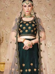 Silk Green Embroidered Designer Lehenga Choli
