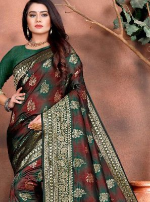 Silk Green Traditional Saree
