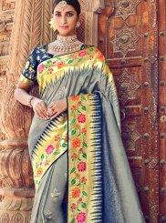 Silk Grey Classic Designer Saree