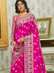 Silk Hot Pink Trendy Saree