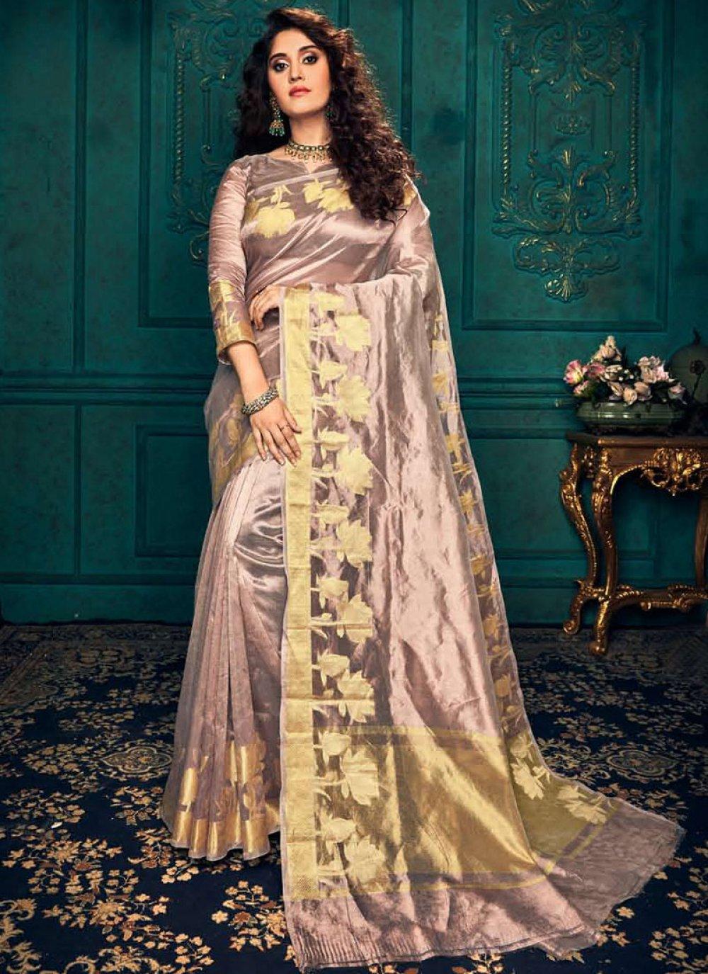 Silk Lavender Traditional Saree