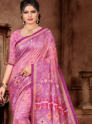 Silk Lavender Weaving Classic Saree
