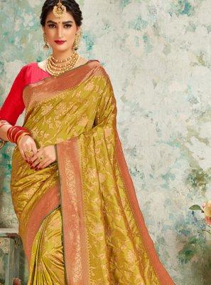 Silk Mustard Traditional Saree