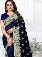 Silk Navy Blue Traditional Saree