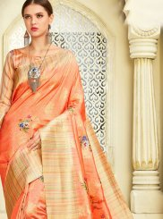 Silk Orange Zari Classic Saree