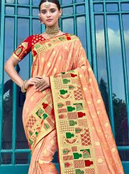 Silk Peach Trendy Saree