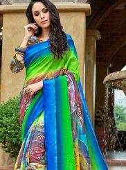 Silk Printed Work Work Casual Saree