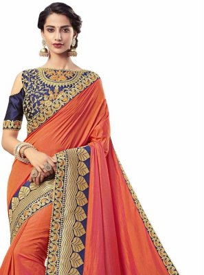 Silk Red Designer Saree