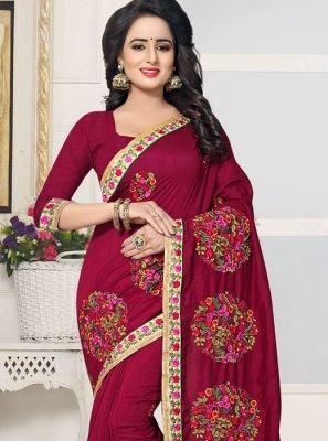Silk Resham Work Designer Saree