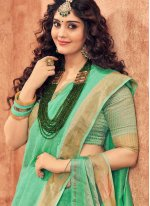 Silk Sea Green Traditional Designer Saree