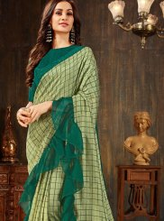 Silk Sea Green Trendy Saree