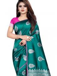 Silk Silk Saree in Teal