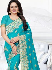 Silk Traditional Saree in Firozi