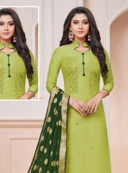Silk Trendy Churidar Salwar Kameez
