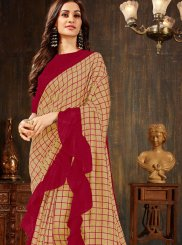 Silk Trendy Saree in Beige