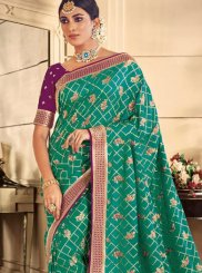 Silk Trendy Saree in Sea Green