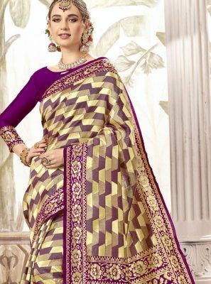 Silk Weaving Lavender Classic Saree