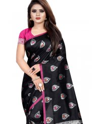 Silk Weaving Traditional Saree in Black