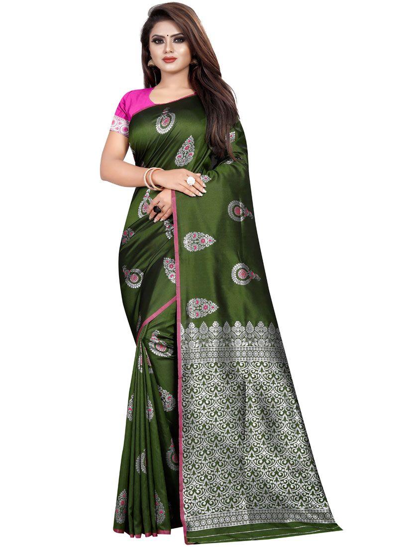 Silk Weaving Trendy Saree