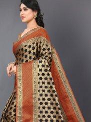 Silk Woven Black Casual Saree