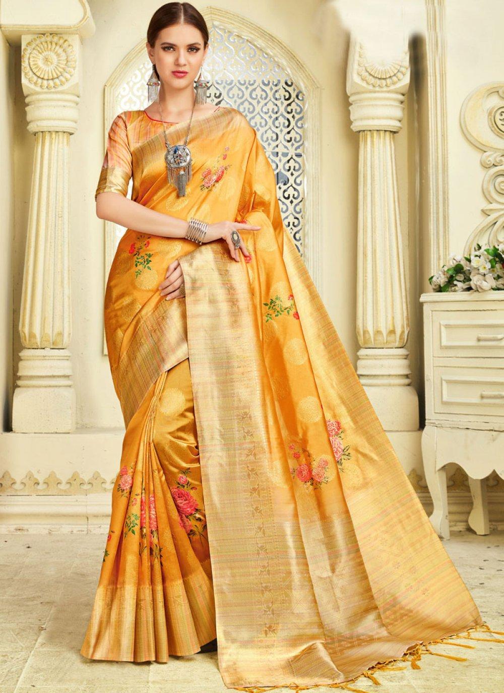 Silk Yellow Silk Saree