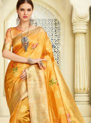 Silk Yellow Silk Saree