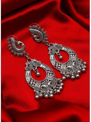 Silver Kundan Sangeet Ear Rings