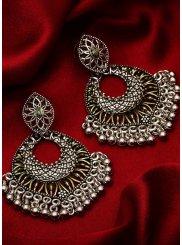 Silver Sangeet Ear Rings