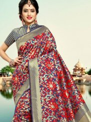 Silver Silk Traditional Saree
