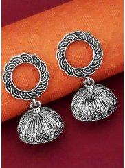 Silver Stone Work Sangeet Ear Rings