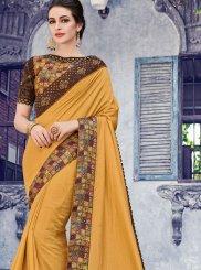 Stone Silk Designer Saree in Mustard