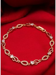 Stone Work Bracelet in Gold