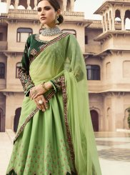 Stone Work Fancy Fabric Designer Lehenga Choli in Green