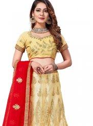 Stone Work Gold Net Trendy Lehenga Choli